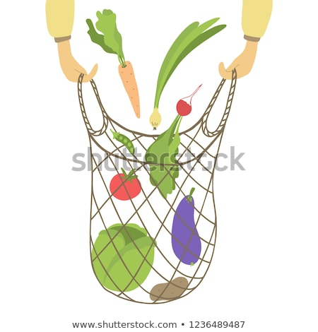 Cipolla isolato vegetali cartoon vettore badge Foto d'archivio © robuart