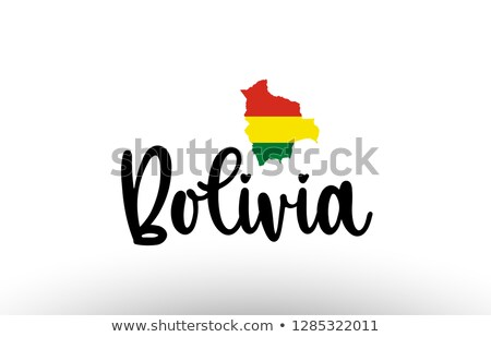 Боливия логотип икона карта вектора дизайна Сток-фото © blaskorizov