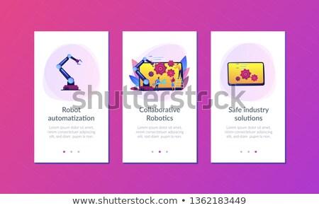 Robotika app interfész sablon robotikus kar Stock fotó © RAStudio