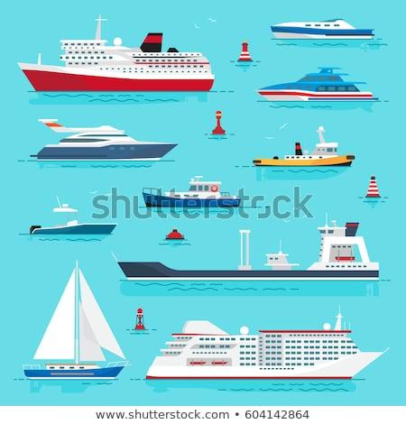 Water vervoer zee reis cruise vector Stockfoto © robuart