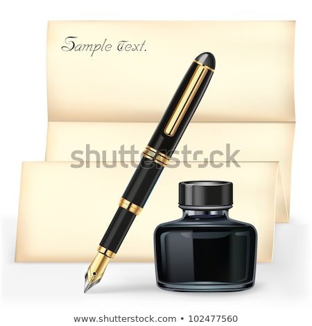 Empty Sheet of Paper with Signature, Fountain Pen Stock photo © robuart
