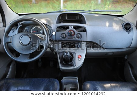 modern car interior with sunlight with white scale and arrow stock photo © ruslanshramko