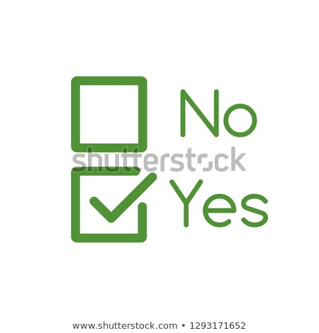 Yes and No Checkbox set with blank and checked checkbox line art vector icon for apps and websites.  Stock photo © kyryloff