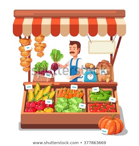 Isolated fresh vegetable stall Stock photo © bluering