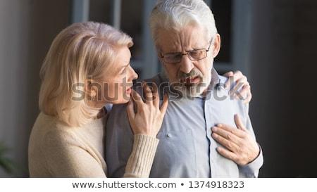 Malattie cardiache banner medico stetoscopio ascolto Foto d'archivio © RAStudio