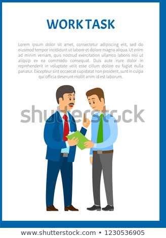 Work Task Vector. Company Leader Giving Directions Stock photo © robuart