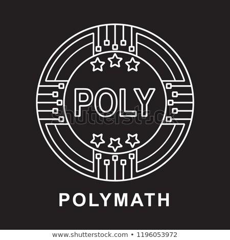 POLY - Polymath. The Icon of Crypto Coins or Market Emblem. Stock photo © tashatuvango