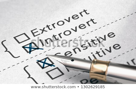 Personality Test, Extrovert or Introvert Person Stock photo © olivier_le_moal