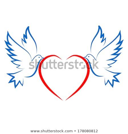 dia · dos · namorados · amor · cartão · aves · corações - foto stock © robuart