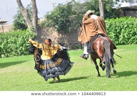 traditional Peruvian couple Stock photo © adrenalina