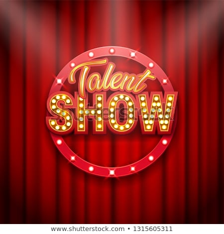 Talento show banner poster oro Foto d'archivio © MarySan