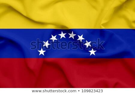 Mintázott grunge integet zászló Venezuela vektor Stock fotó © nazlisart
