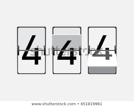 Ingesteld nummers cijfers mechanisch scorebord stijl Stockfoto © MarySan