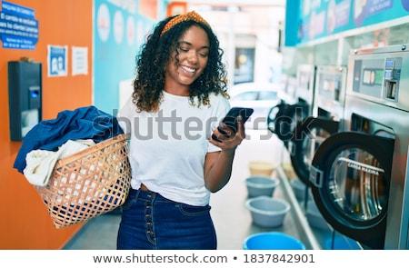 少女 · 洗濯 · 洗濯機 · 実例 · 作業 · 背景 - ストックフォト © colematt