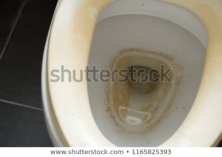 Close-up Of Dirty Toilet Bowl Stock photo © AndreyPopov