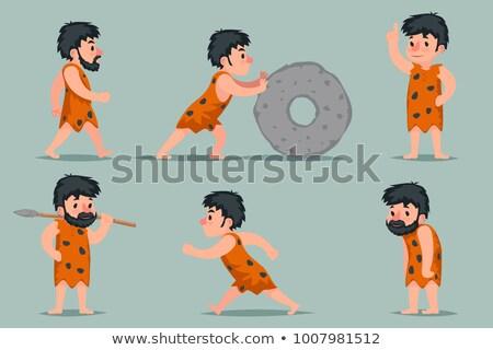 Cavemen in different positions Stock photo © colematt