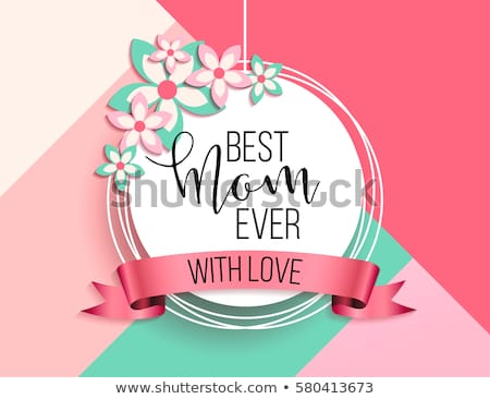 cute happy mother's day background with hearts Stock photo © SArts
