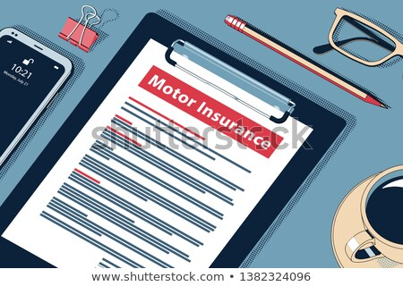 Car Insurance Policy - Vector Halftone Isometric Illustration. Stock photo © tashatuvango