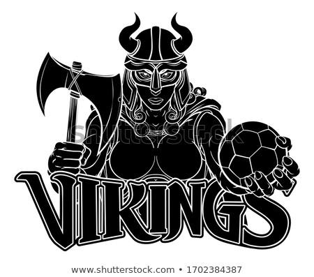 Viking Female Gladiator Soccer Warrior Woman Stock photo © Krisdog