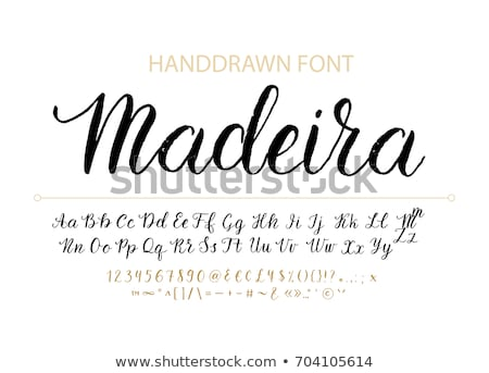 Modern Calligraphy Of Ink Greetings Letters Vector Stock photo © pikepicture