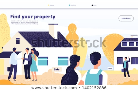 Stock photo: Personalized selling concept landing page.