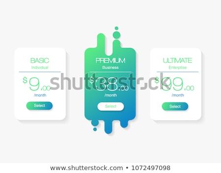 Tabelle Vorlage Vergleich Dienstleistungen Web Preisgestaltung Stock foto © kyryloff