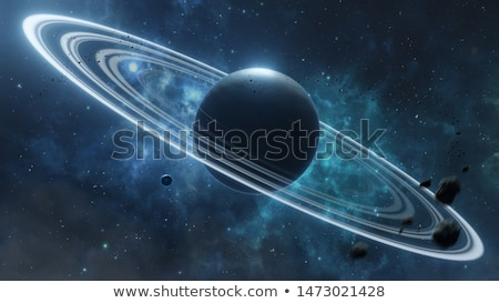 Planeet ring Galaxy illustratie natuur landschap Stockfoto © colematt