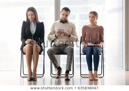 Three bored businessmen in a meeting Stock photo © Giulio_Fornasar