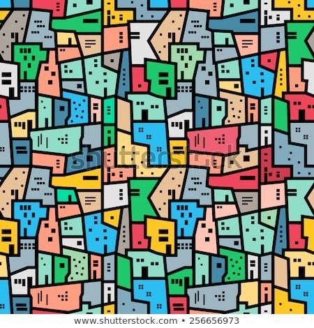 Seamless pattern with Cityscape Stock photo © netkov1