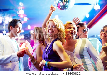 Blonde Woman Entertain at Disco Club Girl on Party Stock photo © robuart