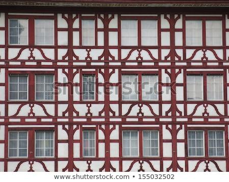 Huizen hart hemel huis gebouw stad Stockfoto © borisb17