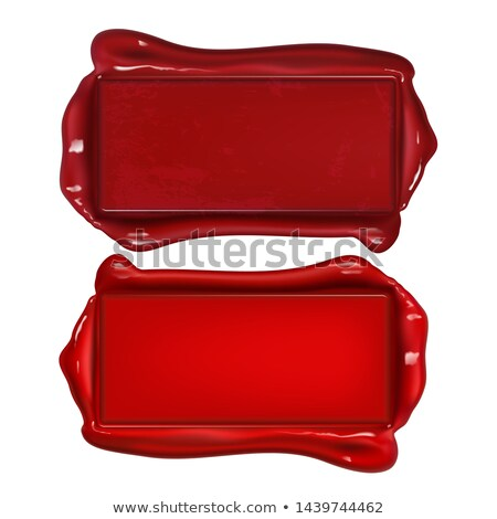 Vintage Rectangular Red Wax Seal Copy Space Vector Stock photo © pikepicture