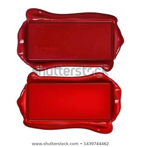 vermelho · cera · selar · cópia · espaço · próprio - foto stock © pikepicture