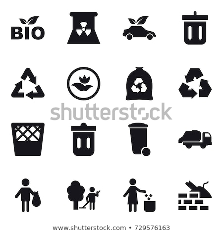 Pollution, litter, rubbish and trash objects isolated Stock photo © bluering