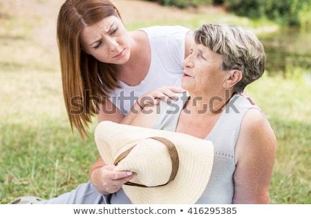 Vară căldură bunică ilustrare soare fierbinte Imagine de stoc © Blue_daemon