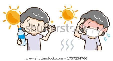 été chaleur grand-mère illustration soleil Photo stock © Blue_daemon