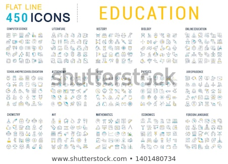 Flat design icons of space and astronomy. Stock photo © netkov1