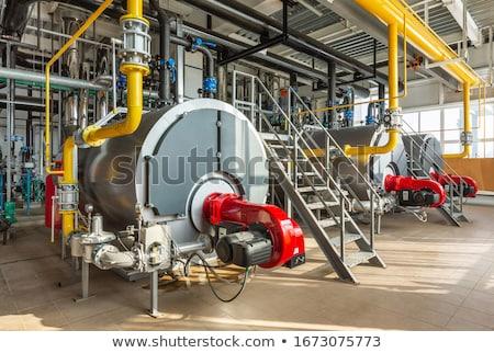Stockfoto: Industriële · kamer · fabriek · gebouw · bouw