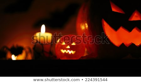 Dark Halloween Pampkins Stock photo © nazlisart