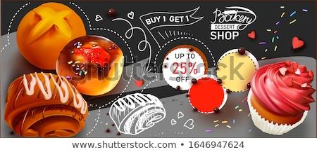 ベクトル · おいしい · ドーナツ · 甘い · カラフル - ストックフォト © cidepix