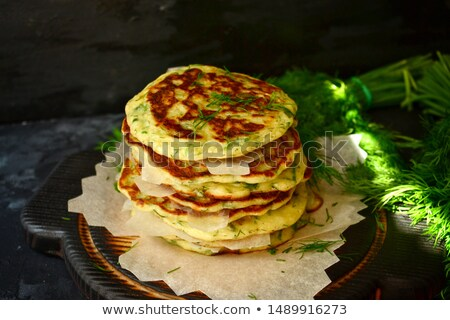 pancakes with onion Stock photo © tycoon