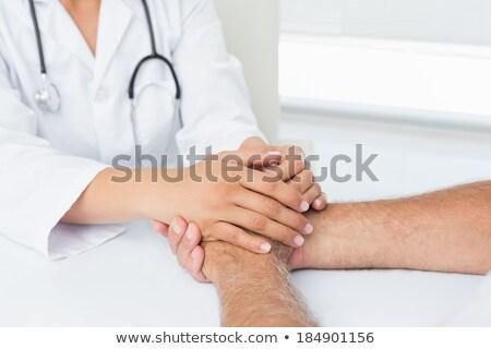 Középső rész női orvos idős nő tart Stock fotó © wavebreak_media