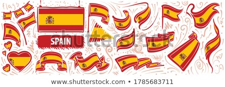 Vector set of the national flag of Spain in various creative designs Stock photo © butenkow