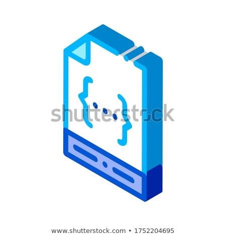 Codifica file documento isometrica icona vettore Foto d'archivio © pikepicture