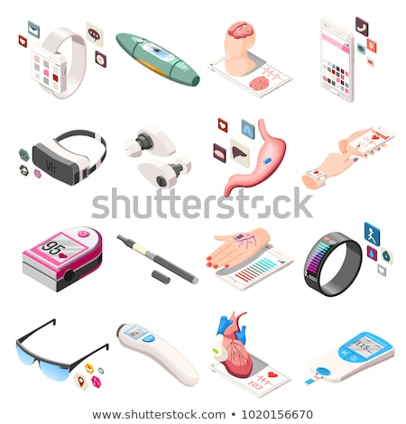 Hearing Aid Equipment isometric icon vector illustration Stock photo © pikepicture