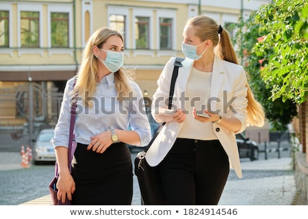 Two young wome Stock photo © acidgrey