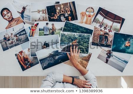 editör · fotoğrafları · dizüstü · bilgisayar · dslr · kamera · büro - stok fotoğraf © stokkete