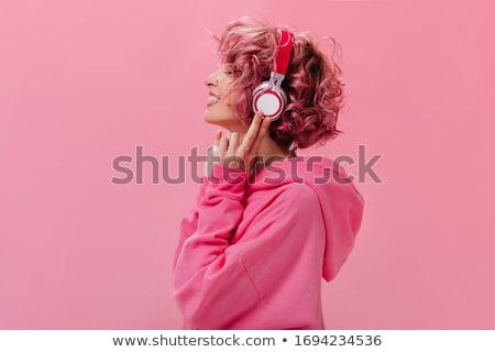 подростку · молодой · музыку · стороны · лице · женщины - Сток-фото © kurhan