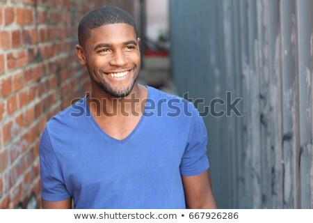 Retrato guapo sonriendo sonrisa ojo Foto stock © meinzahn