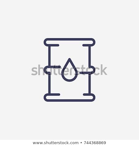 gázolaj · konzerv · vonal · ikon · vektor · izolált - stock fotó © rastudio